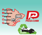 composition de logos AMVOQ, Progi-Comm and Arpac